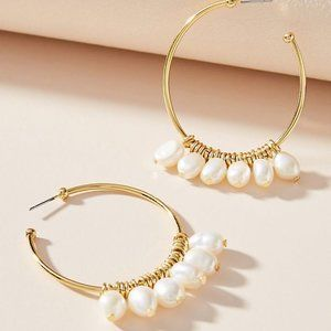 Marquita Keshi Pearl Hoop Earrings